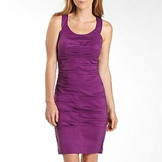 This is the color I want but I'm not sure about the dress.     Signature by Sangria Ruched Taffeta Dress - jcpenney