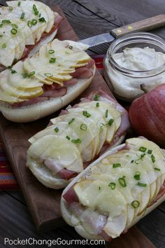 Open Face Ham, Apple and Cheddar Sandwiches   Pocket Change Gourmet