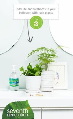 Add life and freshness to your bathroom with lush plants! [Promotional Pin]
