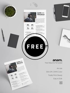 98 Awesome Free Resume Templates in this post are made by creative designers for designers and these resume templates are fully editable, so you can replace the text, change the name, add your phone number and address of your own. Best Resume Template, Resume Design Template, Cv Template, Resume Templates, Free Resume, Photoshop Tutorial, Photoshop Actions, Adobe Photoshop, Simple Resume