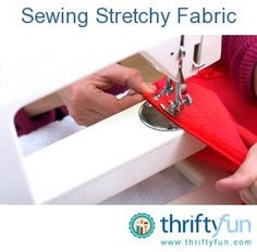 This is a guide about sewing stretchy fabric. Sewing stretchy fabric can be tricky. You want to follow a few simple steps to ensure that the finished seams lie nice and flat and at the same time do not break when the garment is worn or the item used.
