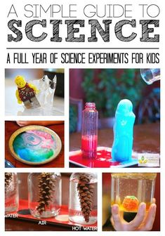 Simple Science Guide for a Year of Science Experiments for Kids | Love this resource for Kindergarten through primary grades! So many tips and ideas!