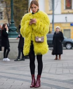 Russia street style | #streetstyle #fashion #trends2015 #fashionstyle   http://www.bykoket.com/inspirations/category/trends/fashion