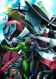 Kamen Rider W by takkynoko
