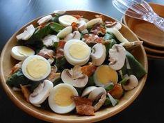 Flavors by Four: Spinach Salad with Warm Bacon Dressing