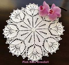 Pink Rose Crochês