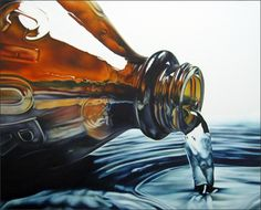 American paintings by Todd Ford, hyperrealism art Close Up Art, Reflection Art, Hyper Realistic Paintings, A Level Art, Ap Art, Still Life Art, Sketch Painting, Realism Art, Les Oeuvres