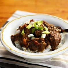 Slow cooker Sindhi beef curry, an alternative to chili for game days.