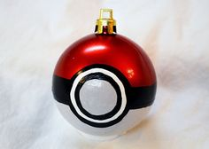 Pokeball Painted Ornament