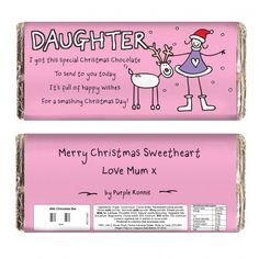 Purple Ronnie Christmas Female Chocolate Bar | Chocolate | Exclusively Personal