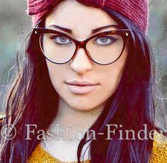 Oversized Large Big Cat Eye Brown Tortoise PIN UP Clear EYE GLASSES Frames Kitti #FashionLabel