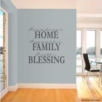 Having wall decal quote