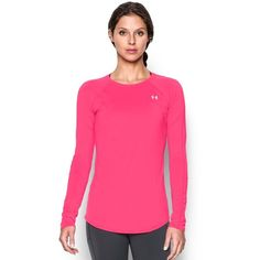 Under Armour Women's UA Sunblock 50 Long Sleeve ($50) ❤ liked on Polyvore featuring activewear, activewear tops, harmony red, under armour sportswear and under armour