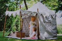 Lovely kids tent for the garden.