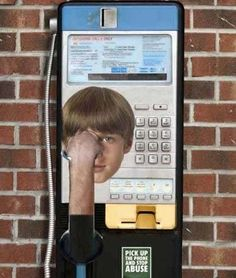 Pick up the phone and stop abuse #creative #smart #clever #advertisements #brilliant #idea