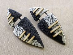 Shield Earrings with Bettina Welker #craftartedu