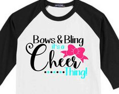 Cheer - Cheer Shirts - Bows and Bling - Cheer Baseball Tee - Cheerleader - Cheerleading Shirts - Cheer Bows - Cheering - Cheer Shirt - Cheer