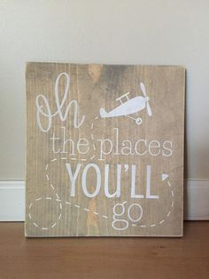 Oh the places you'll go nursery little boys room by OurRusticNest
