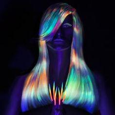 hair is first hair craze Glow-in-the-dark rainbow hair is new big hair trendGlow-in-the-dark rainbow hair is new big hair trend Beautiful Hair Color, Cool Hair Color, Hair Colors, One Hair, Dye My Hair, Pelo Multicolor, Glow Hair, Unicorn Hair, Hair Shows