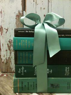 Dorm Room,Home Staging,Home Office,Green Books,Black Stack,Photo Prop,Instant Book Collection, Vintage,Old Books,Interior Design. $ 25.00, via Etsy.