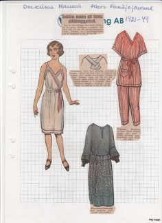 Allers - 1929 | Maggans nostalgiska klippdockor *1500 free paper dolls for Christmas at artist Arielle Gabriels The International Paper Doll Society and also free Asian paper dolls at The China Adventures of Arielle Gabriel *