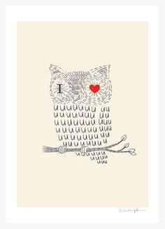 Me iciste amor impresión de arte por ilovedoodle en Etsy