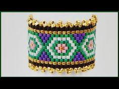 DIY Peyote   Perlenring fädeln   Schmuck   Beaded delica ring   Beadwork jewelry - YouTube