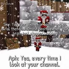 Poor sky, he just got roasted by one of the nicest people in the world Phoenix Drop High, Aphmau Memes, Aphmau And Aaron, Aphmau Fan Art, Kawaii Chan, Fandoms, Markiplier, My Idol, Youtubers
