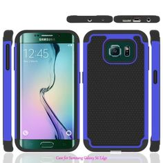 For Samsung Galaxy S6 Edge G9250 Case 5.1inch Hybrid Rugged Rubber Silicon+PC Shockproof 2 In 1 Hard Cover Cases For S 6 G 9250