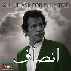Insaaf, Imran khan DA king.