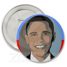 Obama red and blue 4 inch Button