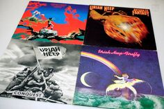 URIAH HEEP 4x Vinyl - Schallplatten MIX - cyan74.com vintage and pop culture delivered from Switzerland