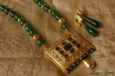 Green Onyx Necklace Set