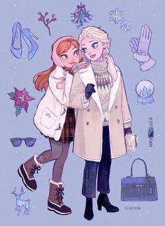 Disney Amor, Art Disney, Disney Kunst, Disney Magic, Punk Disney, Frozen Drawings, Disney Drawings, Frozen Disney, Disney Animation