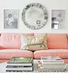 pink couch...yes please!