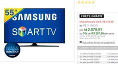 """Smart TV LED 55"""" Samsung 55J5300 Full HD com WiFi ConnectShare Movie Conexões HDMI e USB << R$ 287991 em 10 vezes >>"""