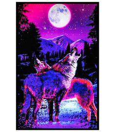 BL6027 - Opticz™ Timberwolves Blacklight Reactive Poster