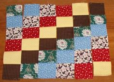 Quiltville's Quips & Snips!!: Scrappy Trips Around The World!  with great directions on how to make this square pattern.