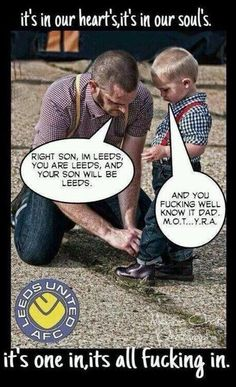 Every dads main role in life. Leeds United Football, Leeds United Fc, The Damned United, Real Champions, My Town, Football Team, Dads, The Unit, In This Moment