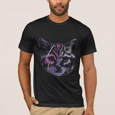 Ziggy Stardust Cat - David Meowie T-Shirt - metal style gift ideas unique diy personalize