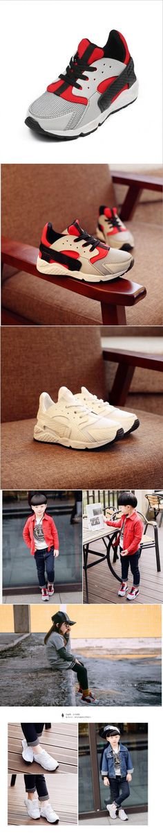 Genuine Leather Kids Shoes for Boys 2016 Spring Summer Waterproof Girls Child Sport Shoes Breathable Casual Sneakers Trainers $43.16