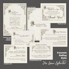 FairyTale Printable Wedding Invitation  Happy by HeSawSparks, $35.00