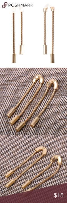 Original Design Double Drop Brass Chain Earrings Each pair weigh approx. 15g.  BRAND NEW. Jewelry Necklaces