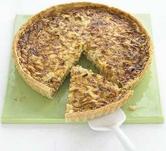 Sticky Onion & Cheddar Quiche. I made this for Max's Birthday party and to say it was delicious is an understatement. YUM!