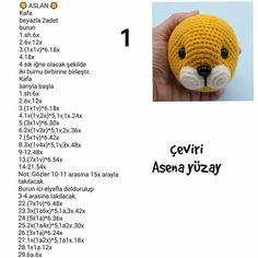 Crochet Bear Patterns, Crochet Wrap Pattern, Crochet Lion, Baby Knitting Patterns, Crochet Animals, Crochet Sole, Stuffed Animal Patterns, Crochet Projects, Craft Ideas