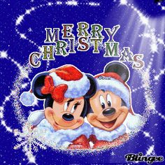 Merry Christmas- Minnie and Mickey Mouse