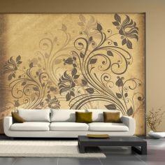 Foto-tapeta kwiatki w sepii