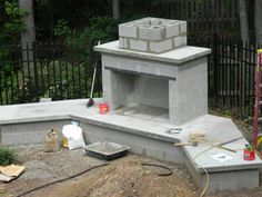 how to build an outdoor fireplace with cinder blocks ... on Building Outdoor Fireplace With Cinder Block  id=17274
