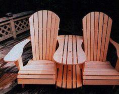 Grandpa Adirondack Chair Plans Digital CAD by TheBarleyHarvest