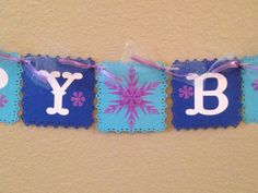 Frozen Birthday Banner Frozen Banner Frozen Inspired Banner